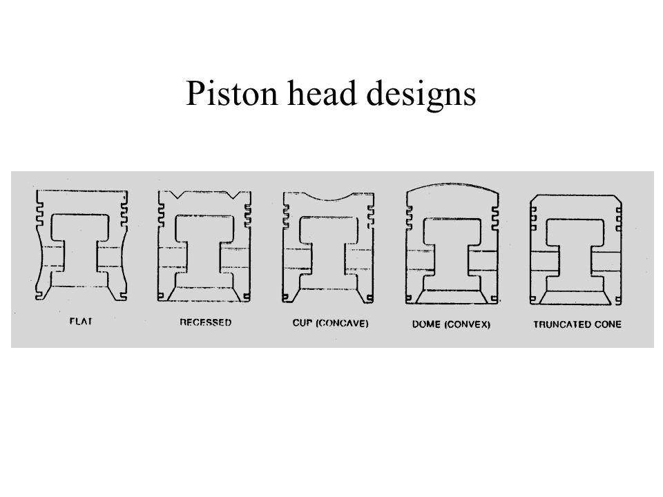 Piston head designs