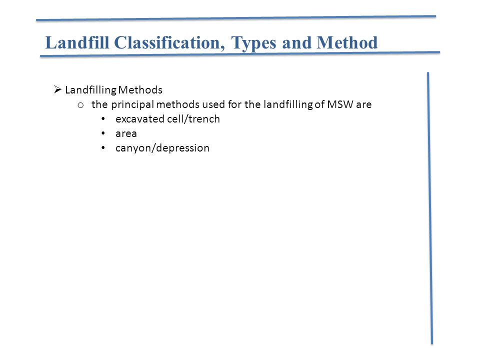 Landfill Classification, Types and Method