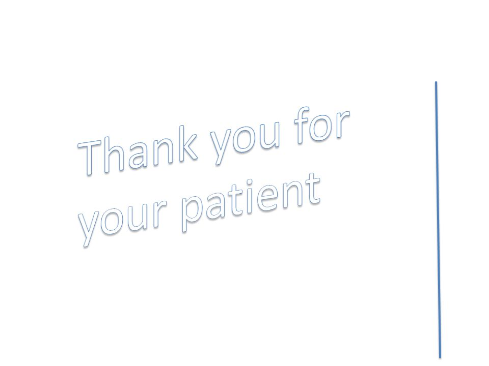 Thank you for your patient