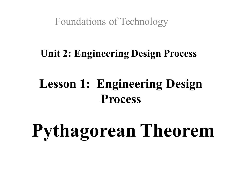 Unit 2: Engineering Design Process