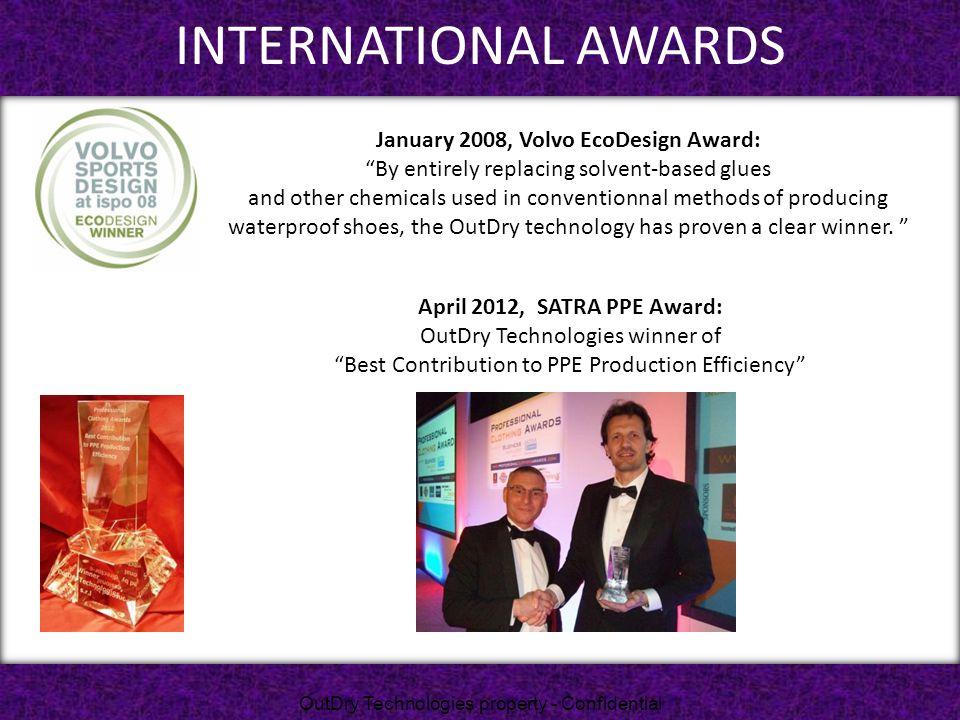 January 2008, Volvo EcoDesign Award: