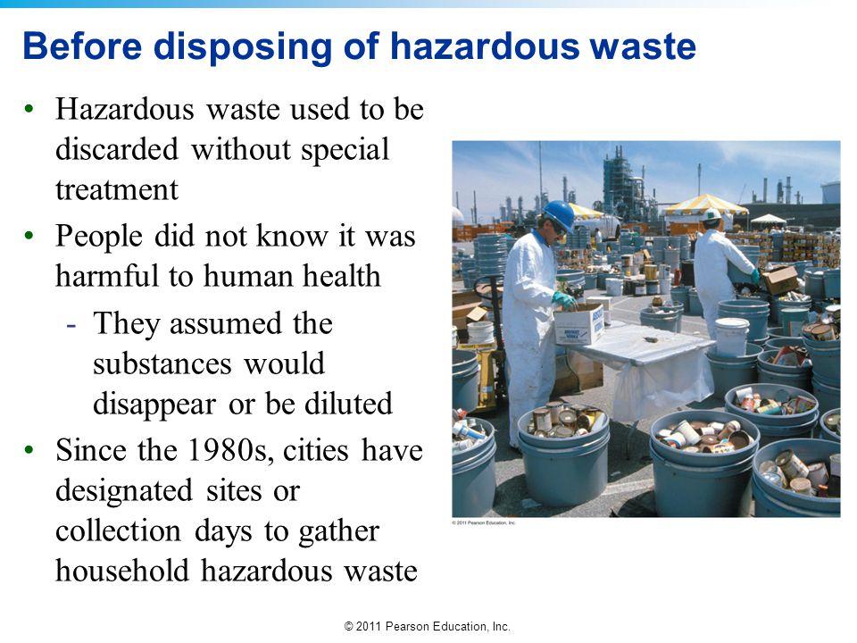 Before disposing of hazardous waste