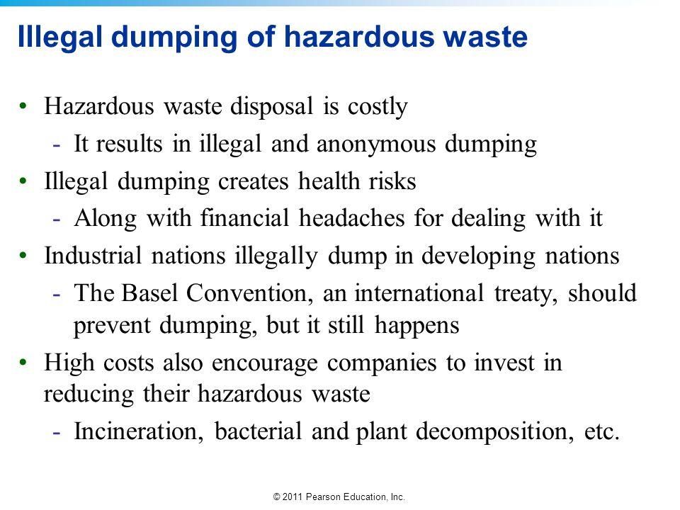 Illegal dumping of hazardous waste