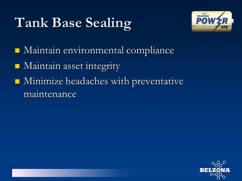Tank Base Sealing Maintain environmental compliance