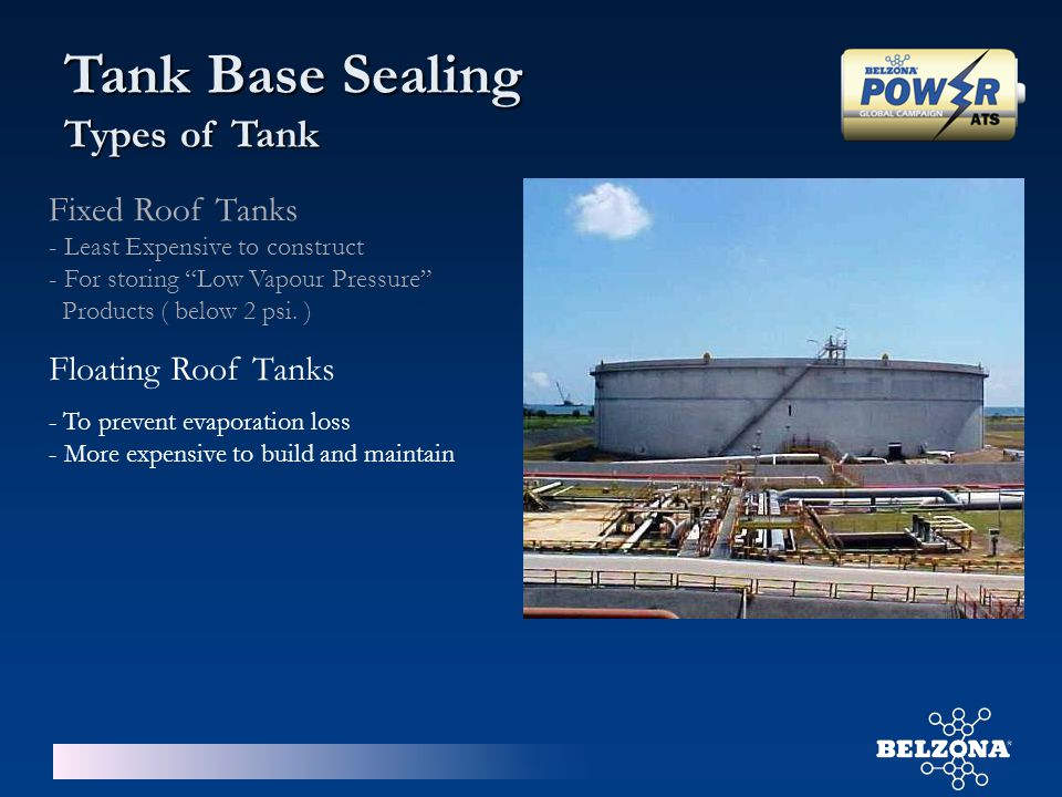 Tank Base Sealing Types of Tank