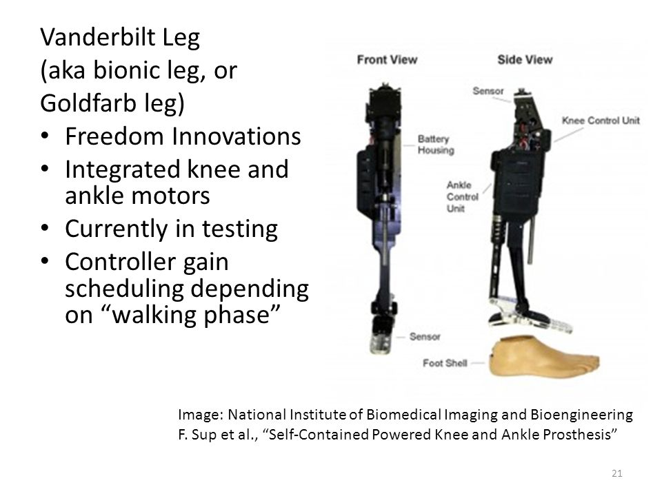 Integrated knee and ankle motors Currently in testing