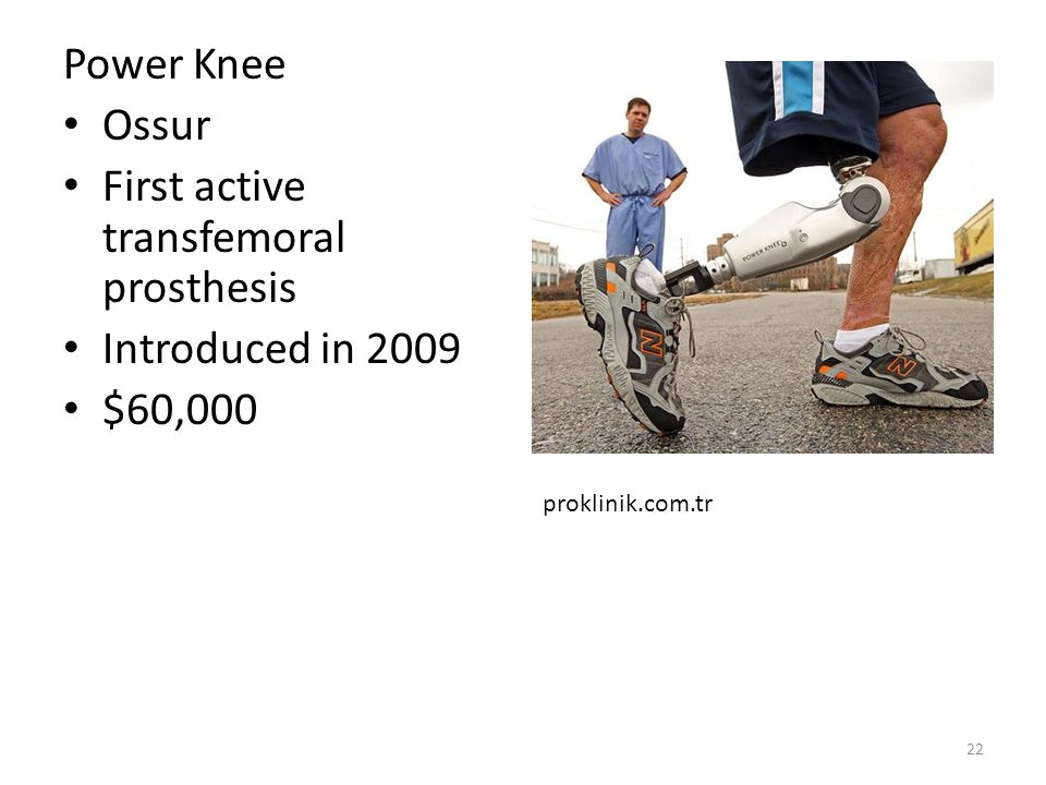 First active transfemoral prosthesis