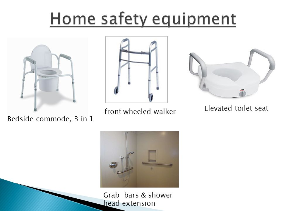 Home safety equipment Elevated toilet seat front wheeled walker