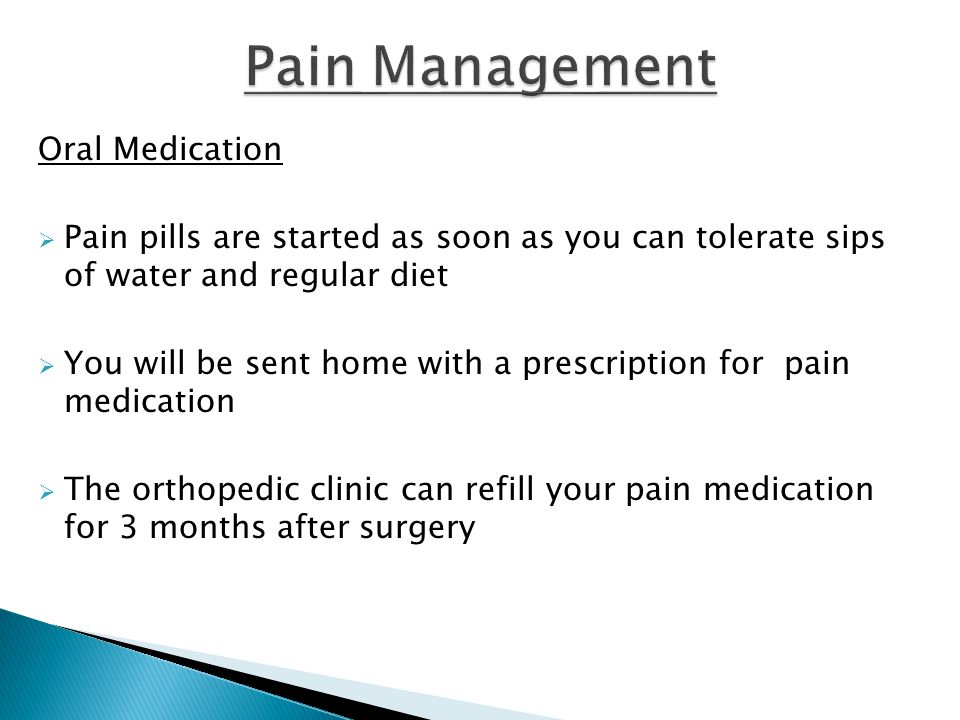 Pain Management Oral Medication