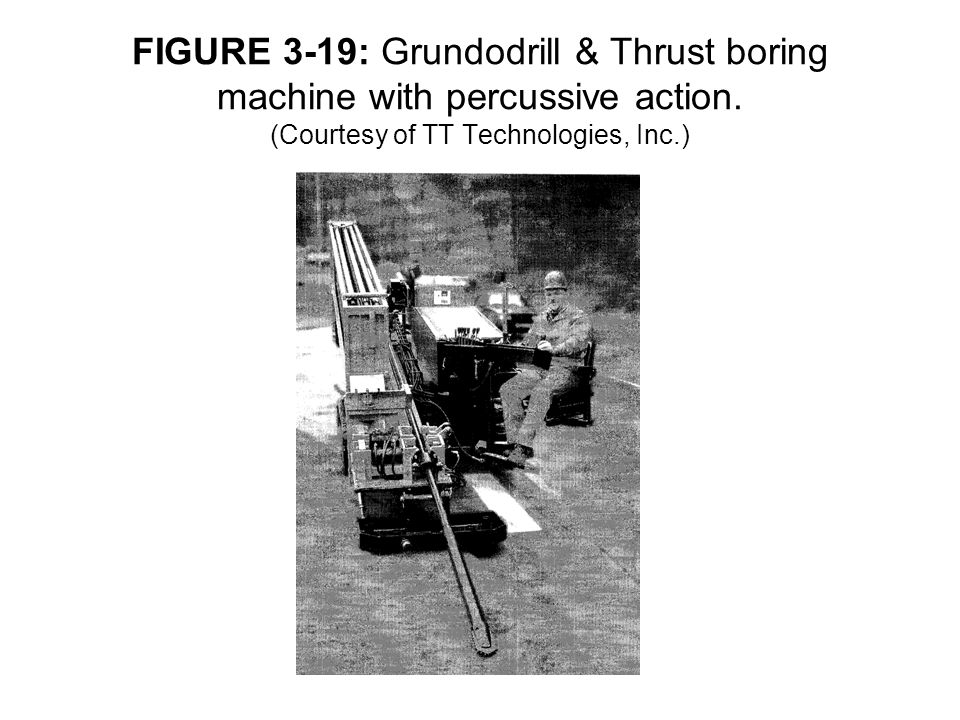 FIGURE 3-19: Grundodrill & Thrust boring machine with percussive action.