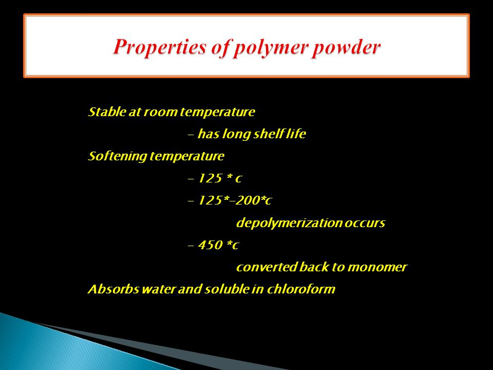 Properties of polymer powder