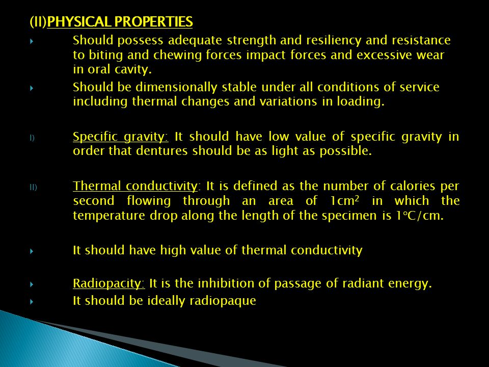 (II)PHYSICAL PROPERTIES