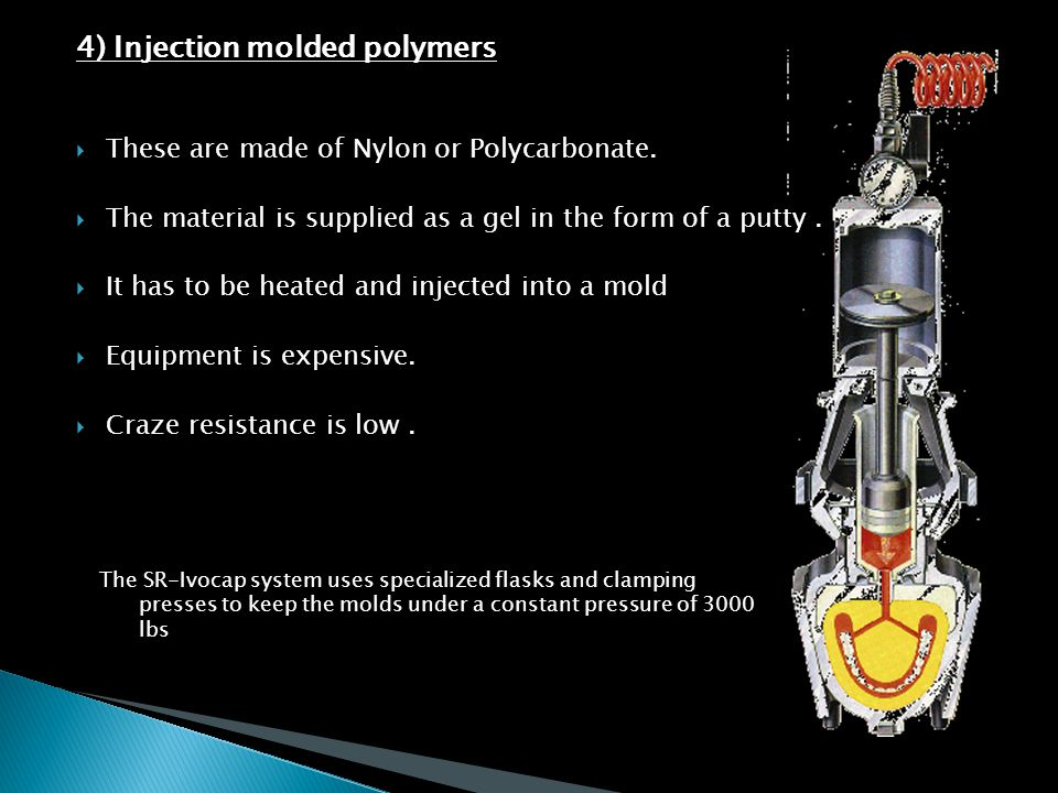 4) Injection molded polymers