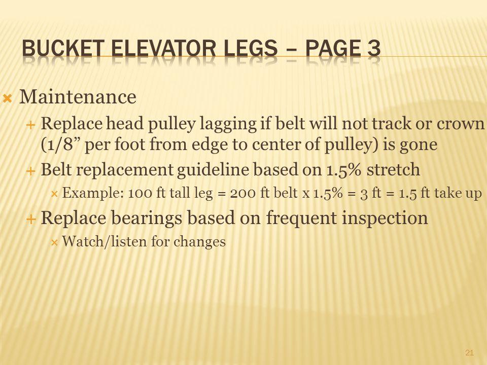 Bucket elevator legs – page 3