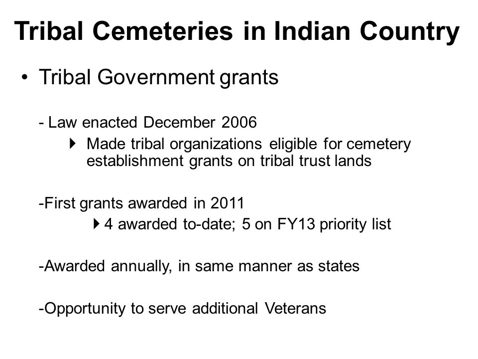 Tribal Cemeteries in Indian Country