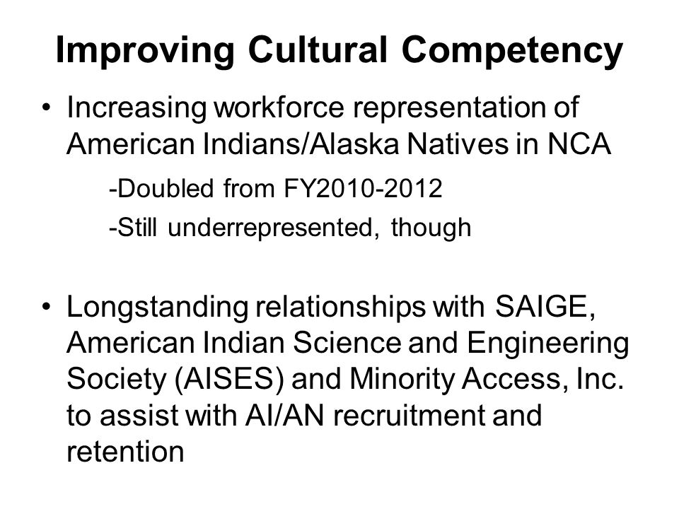 Improving Cultural Competency