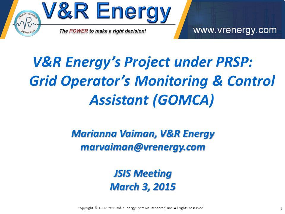 Marianna Vaiman, V&R Energy
