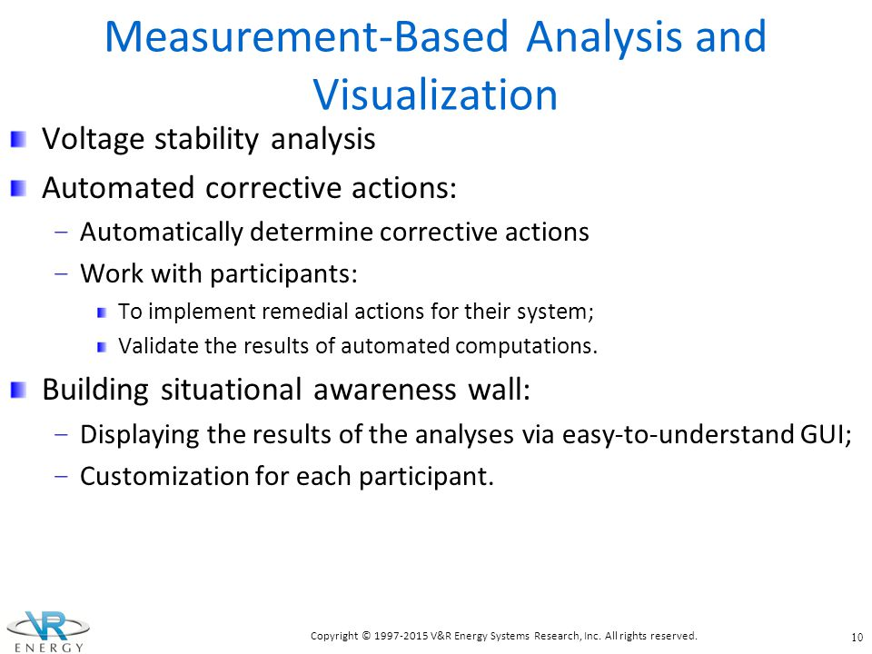 Measurement-Based Analysis and Visualization