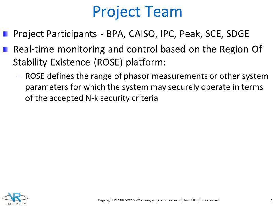 Project Team Project Participants - BPA, CAISO, IPC, Peak, SCE, SDGE