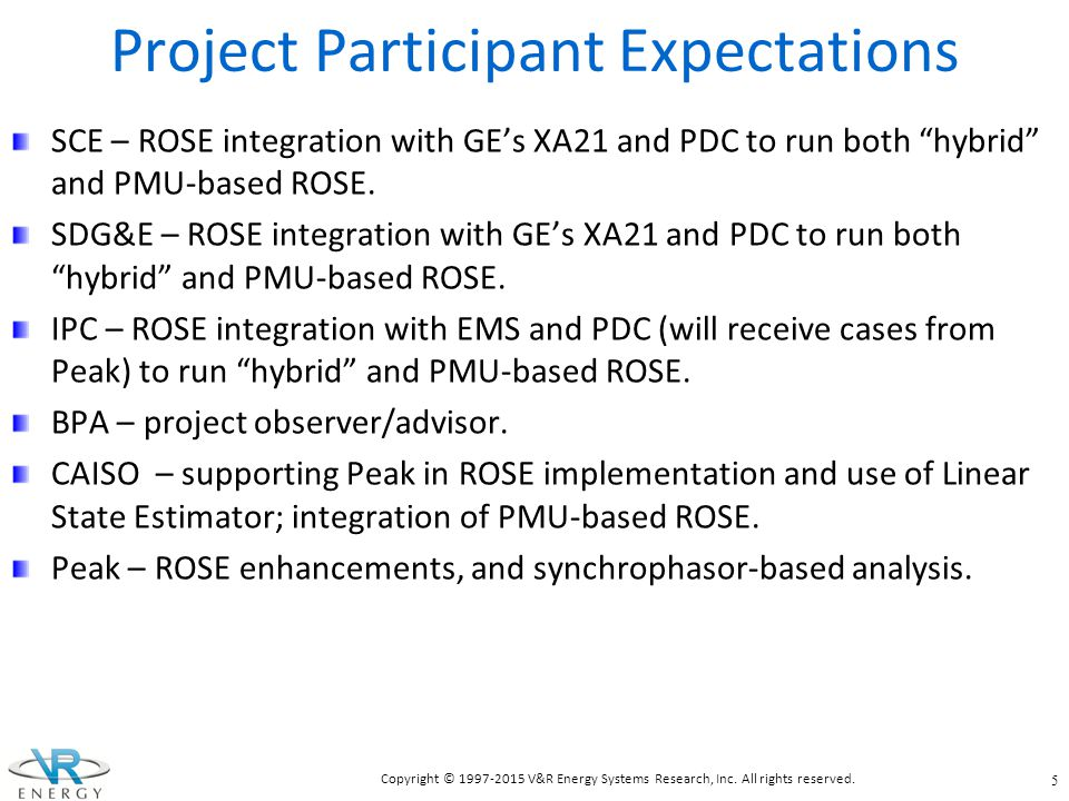 Project Participant Expectations