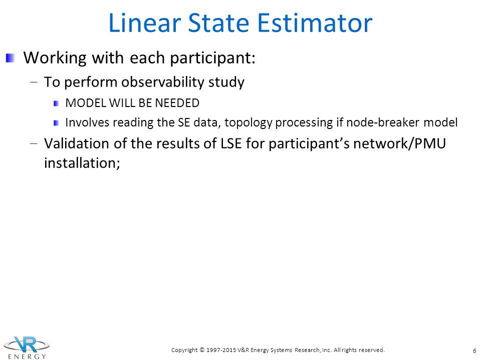 Linear State Estimator