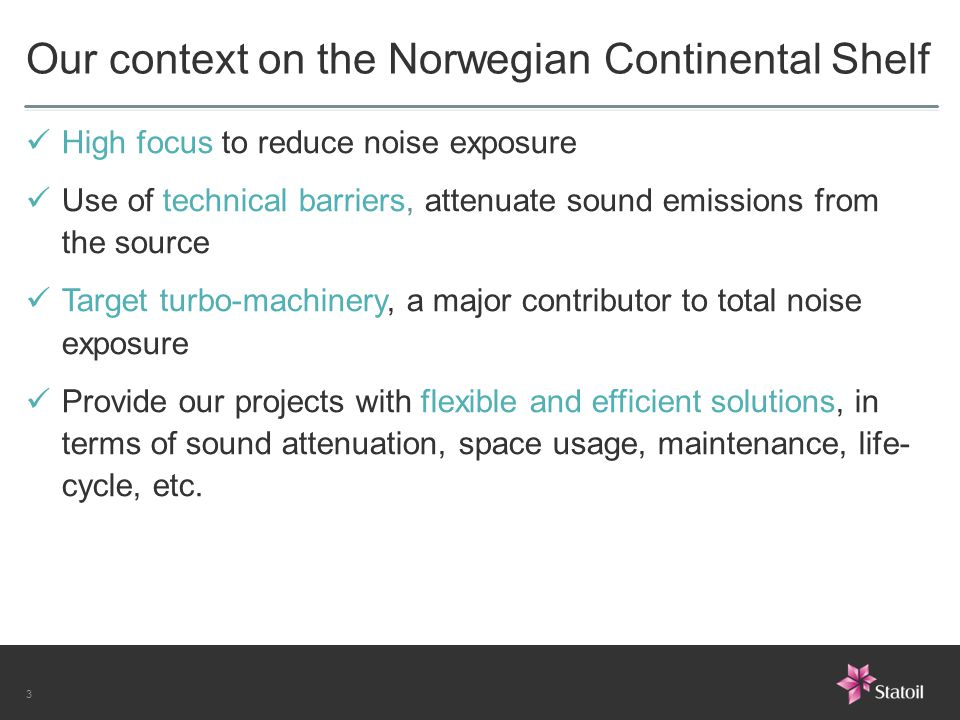 Our context on the Norwegian Continental Shelf