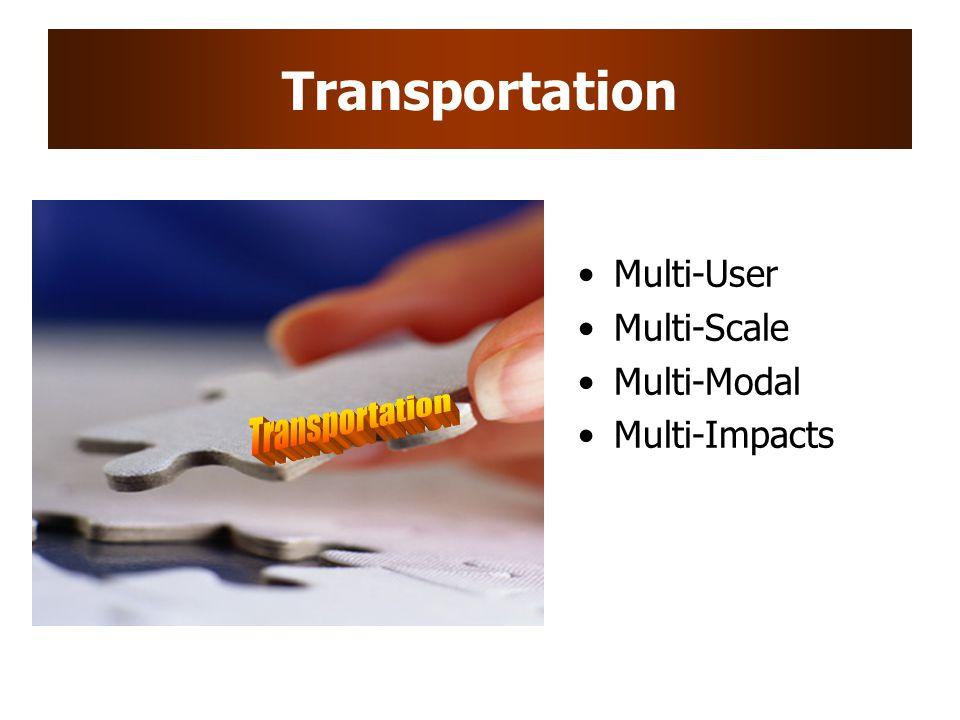 Transportation Transportation Multi-User Multi-Scale Multi-Modal
