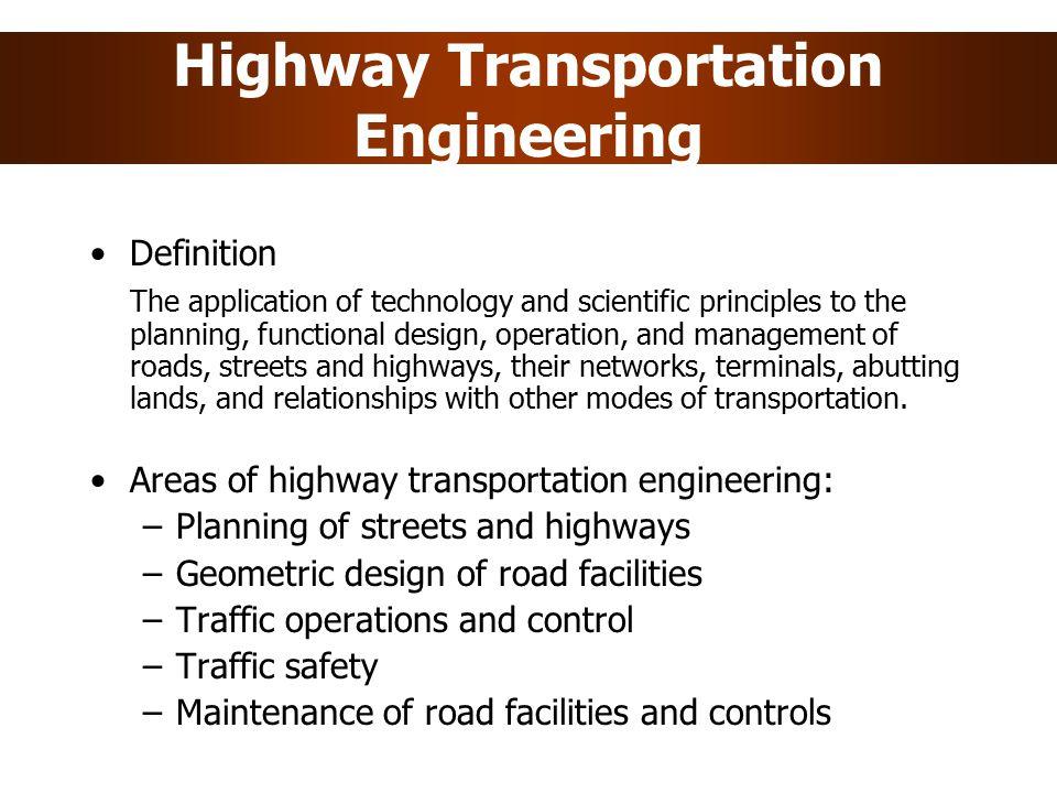 Highway Transportation Engineering