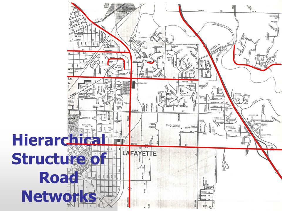 Hierarchical Structure of Road Networks