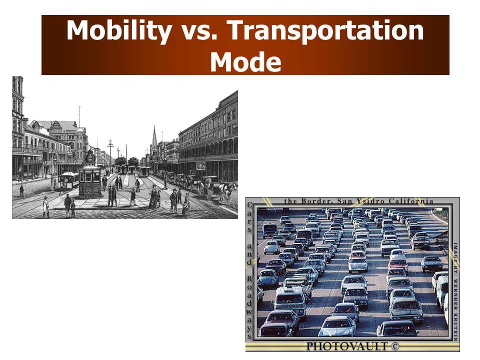 Mobility vs. Transportation Mode