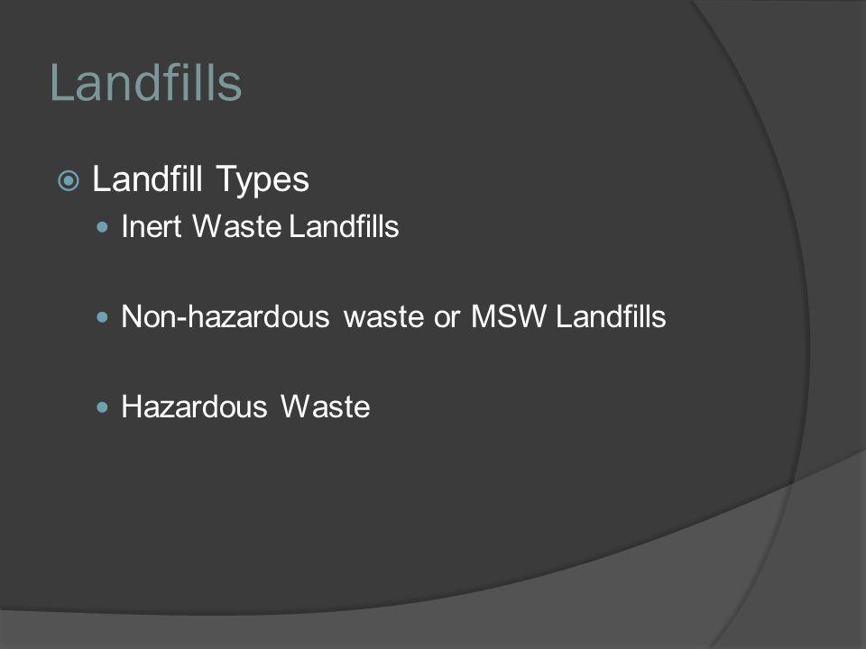Landfills Landfill Types Inert Waste Landfills