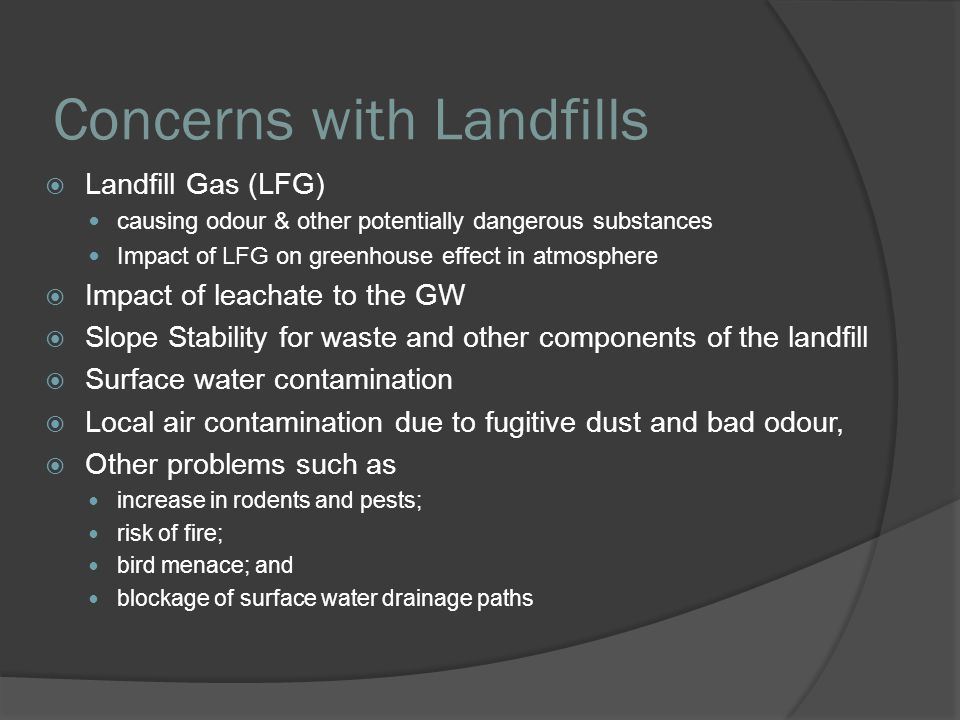 Concerns with Landfills