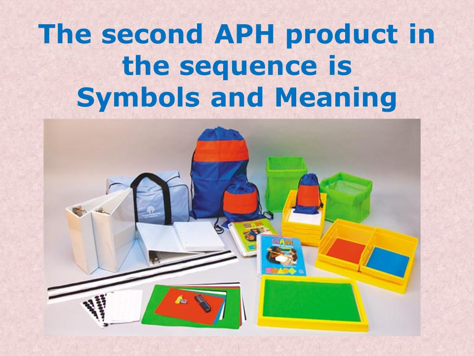 The second APH product in the sequence is Symbols and Meaning