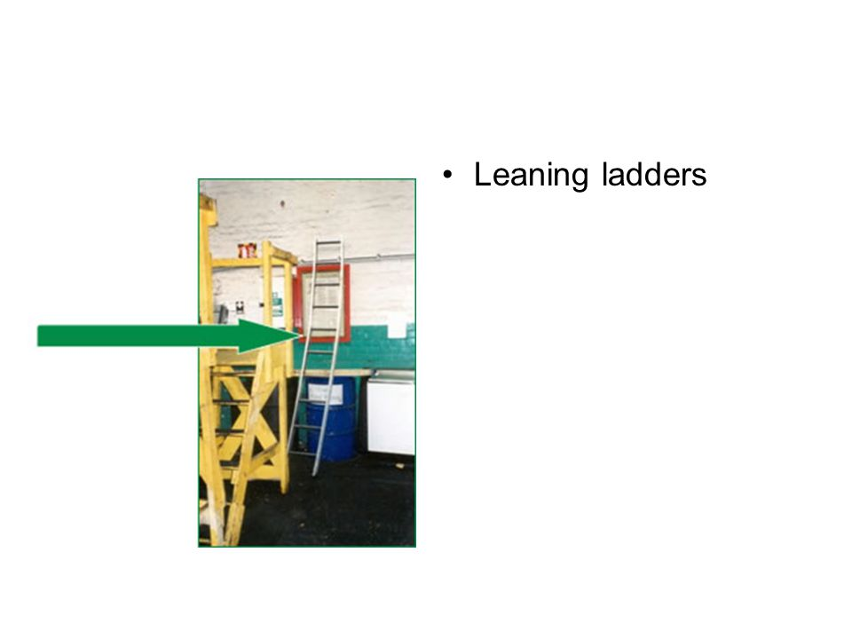 Leaning ladders