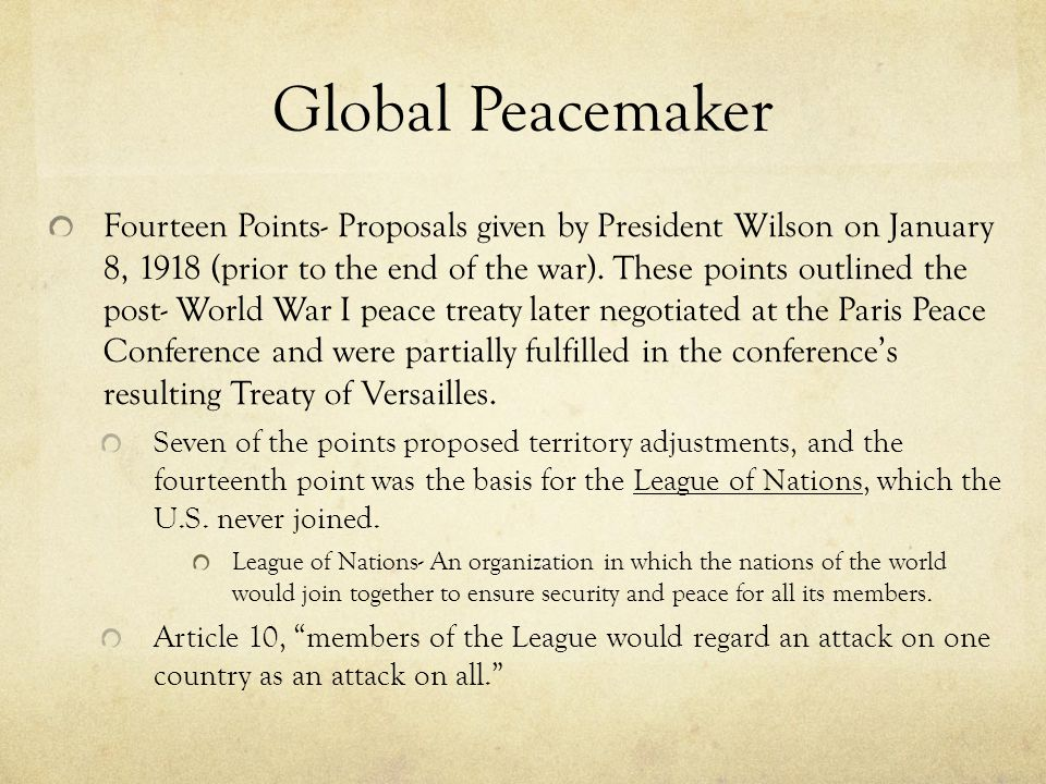 Global Peacemaker