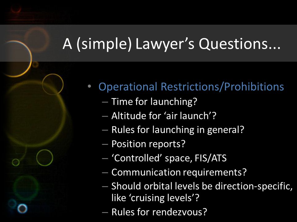 A (simple) Lawyer's Questions...