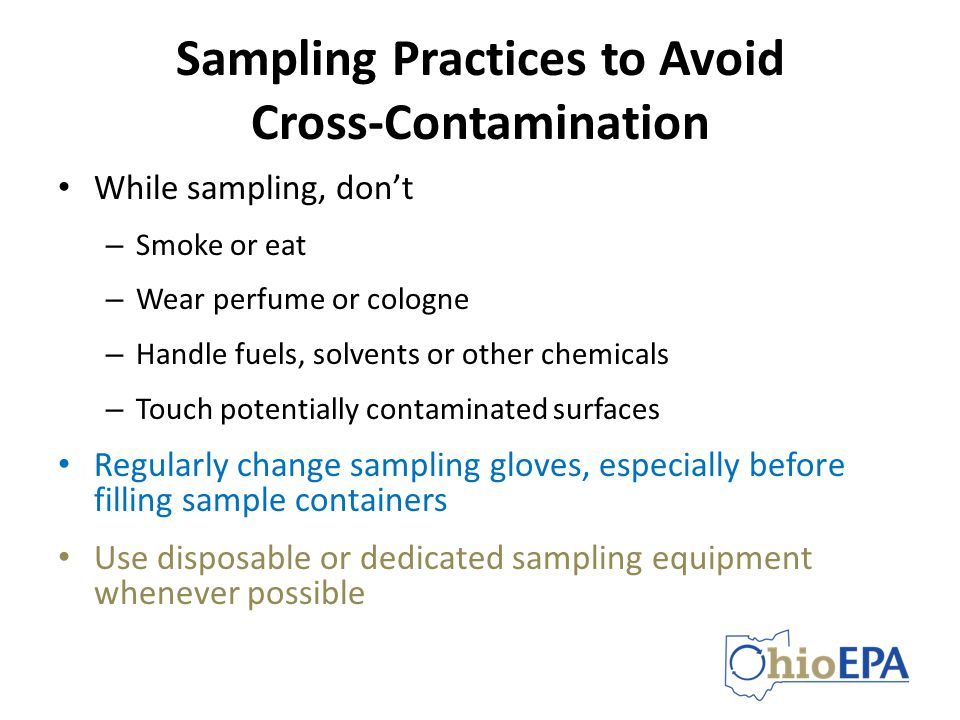 Sampling Practices to Avoid Cross-Contamination