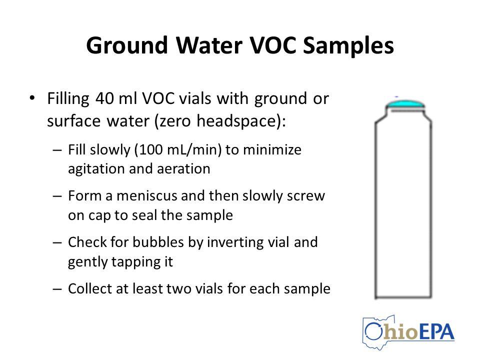 Ground Water VOC Samples