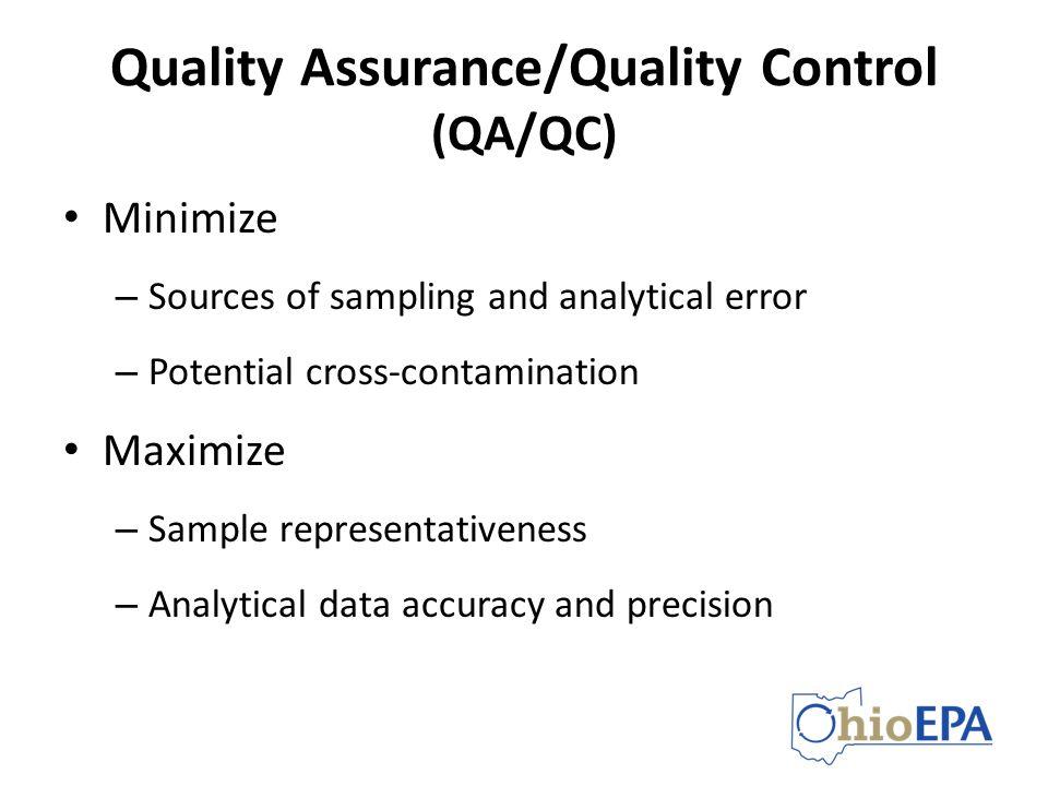 Quality Assurance/Quality Control (QA/QC)