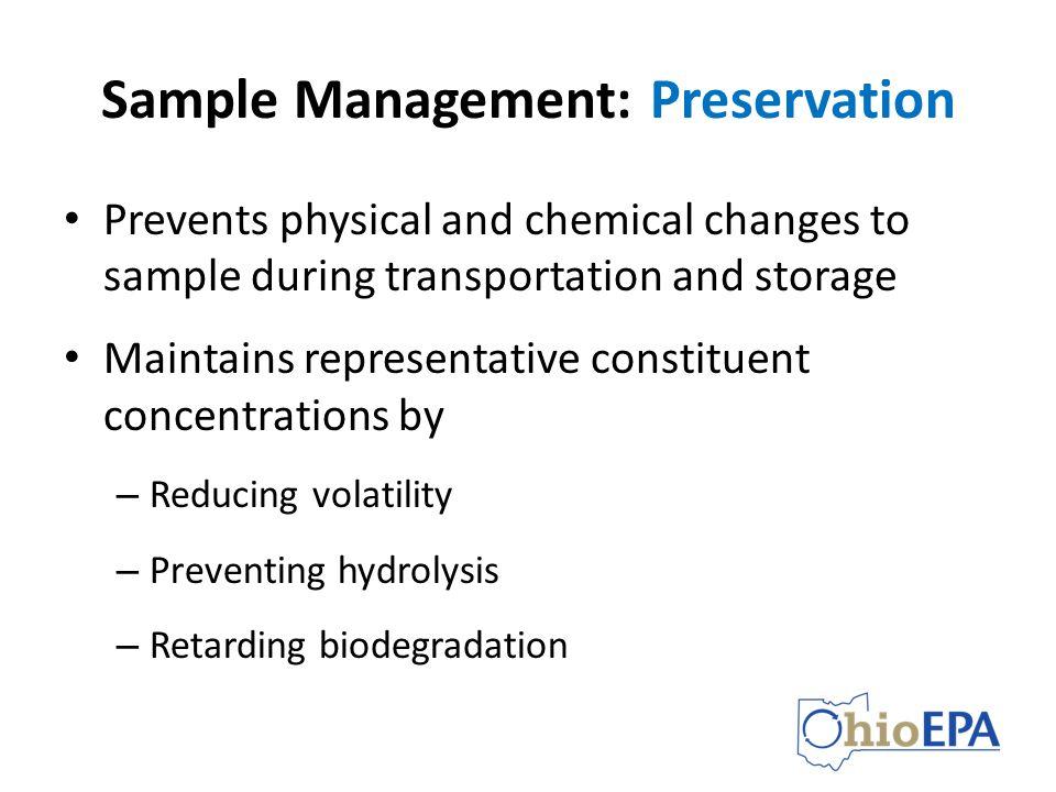 Sample Management: Preservation