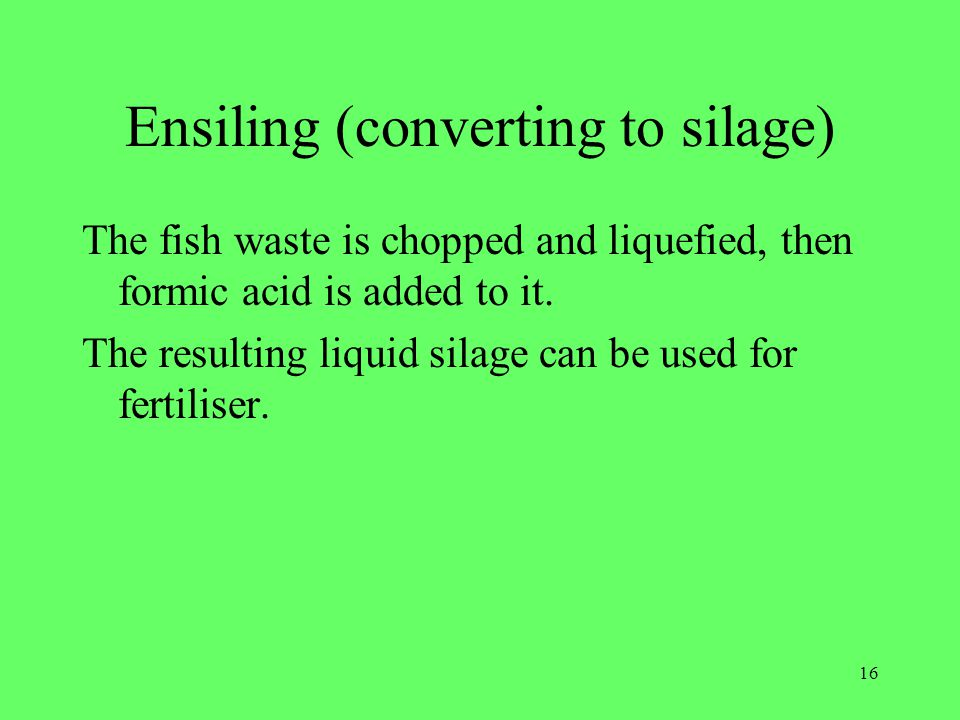 Ensiling (converting to silage)