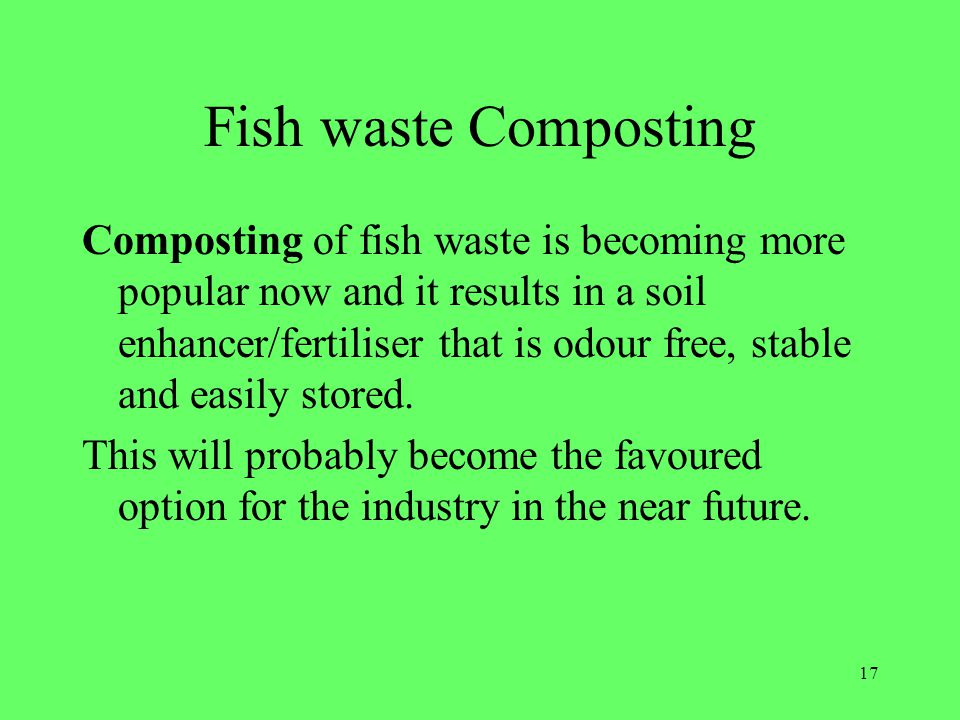 Fish waste Composting