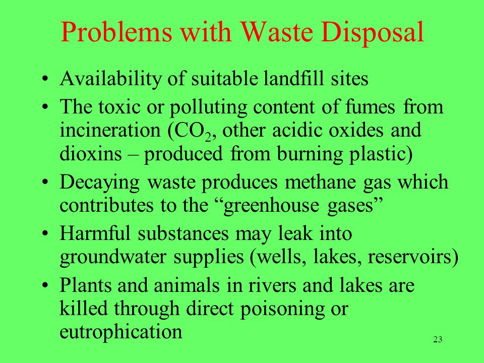 Problems with Waste Disposal