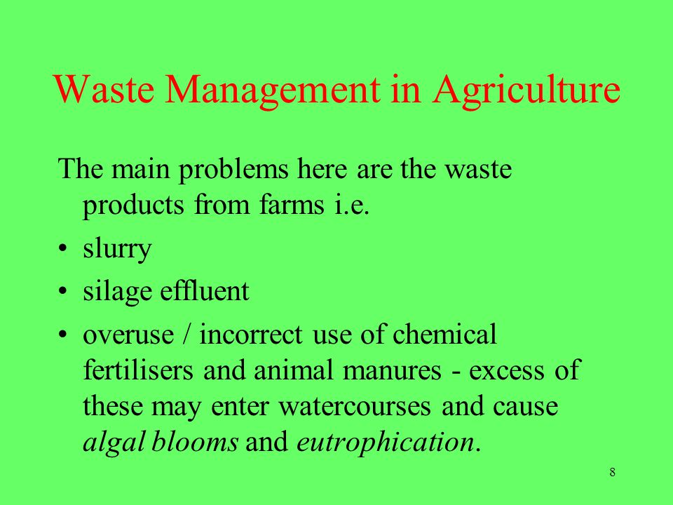Waste Management in Agriculture