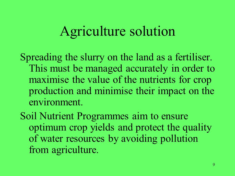 Agriculture solution