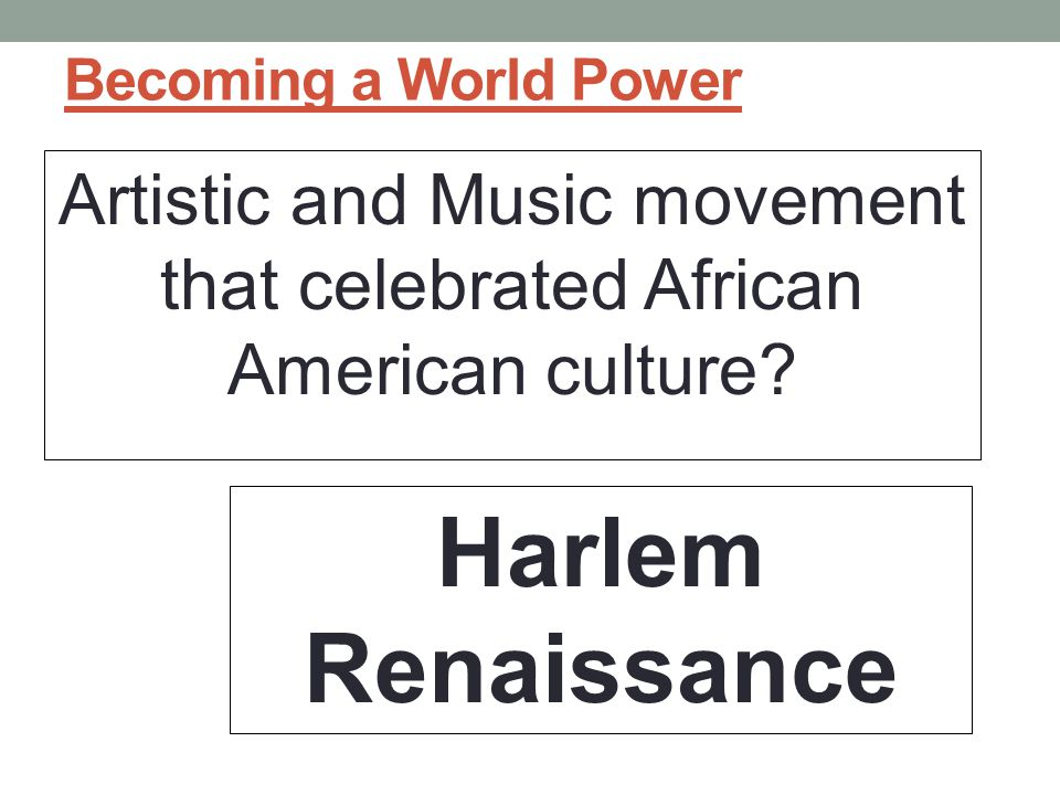 Artistic and Music movement that celebrated African American culture