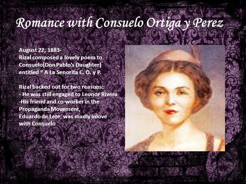 Romance with Consuelo Ortiga y Perez