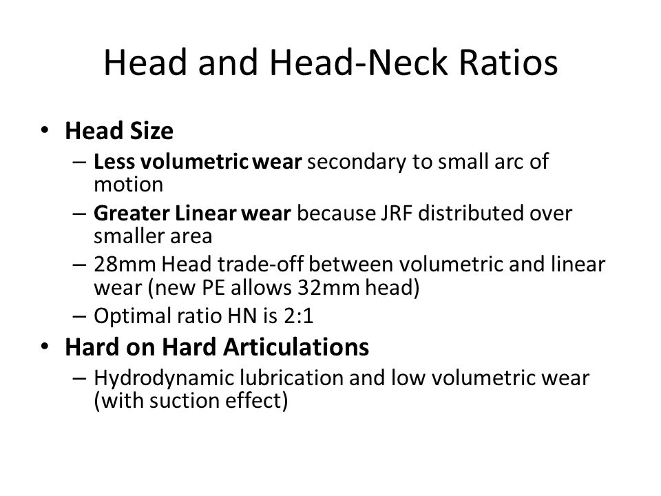 Head and Head-Neck Ratios