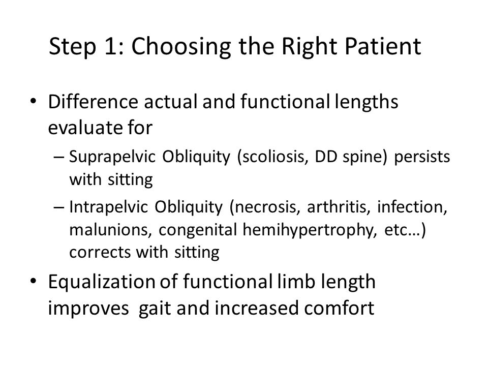 Step 1: Choosing the Right Patient