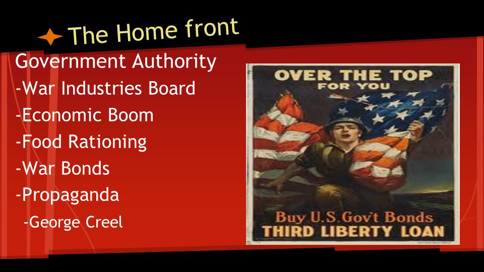 The Home front Government Authority -War Industries Board